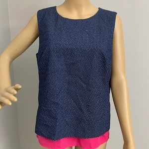 Halogen Women's Sleeveless Blouse Size Large